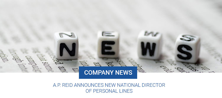 A.P. Reid announces New National Director of Personal Lines