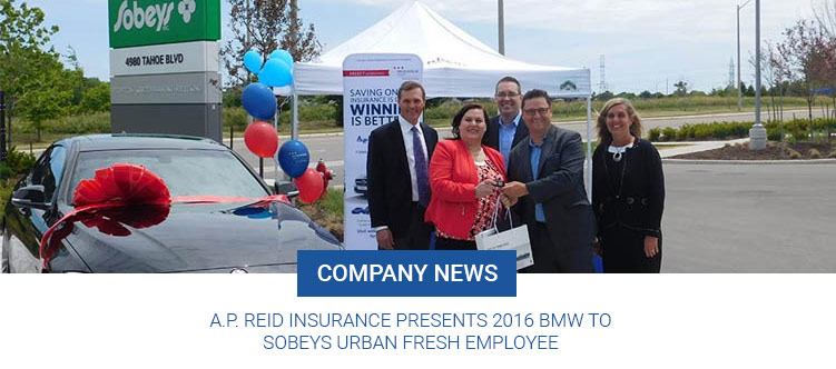 A.P. Reid Insurance Presents 2016 BMW to Sobeys Urban Fresh Employee