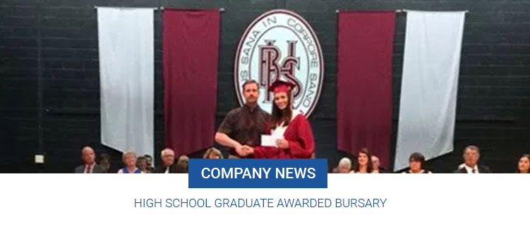 High School Graduate Awarded Bursary
