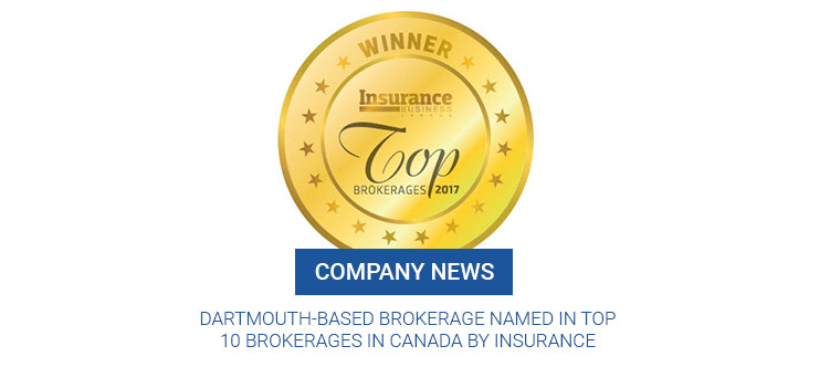 Dartmouth-based brokerage named in top 10 brokerages in Canada by Insurance Business Magazine