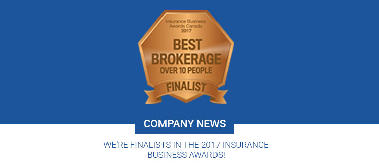 We're Finalists in the 2017 Insurance Business Awards!